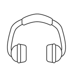 Single headphones icon vector
