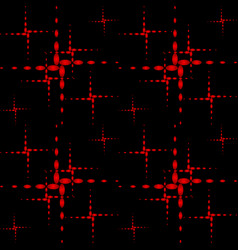 Pattern of the red crosses vector