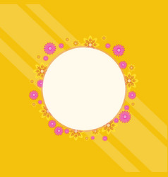 Spring theme frame with flower vector