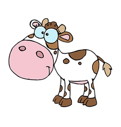 Cartoon character calf different color white vector