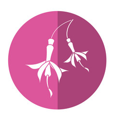 Flower petal natural icon shadow vector