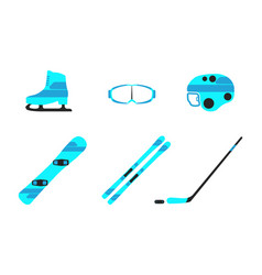Winter sports equipment collection vector