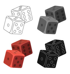 Dice for games in the casino stones to throw on vector