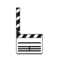 Color silhouette image movie clapperboard icon vector