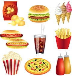 fastfood set vector image