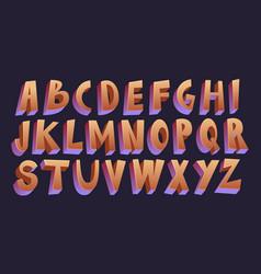 3d cartoon font vector