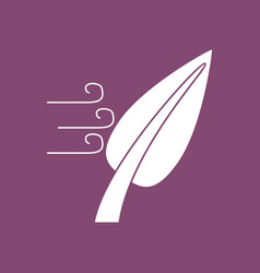 icon leaf and wind vector image