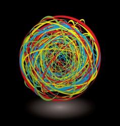 elastic band tangle dark icon vector image