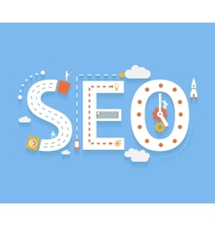 Seo internet searching optimization process vector