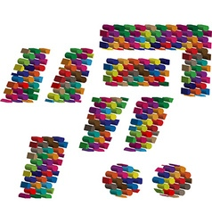 Colorful three-dimensional symbol vector