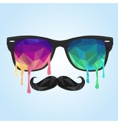 Glass polygon mustache polygon vector