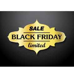 Black friday sale card design vector