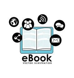 E-book concept design vector