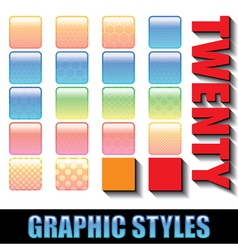 20 graphic styles these styles can be applied to y vector