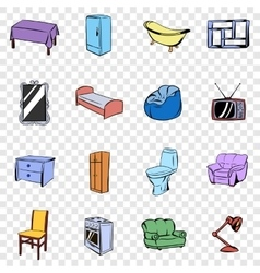 Furniture set icons vector