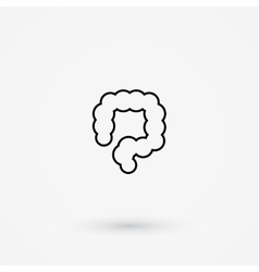 Colon simple icon vector