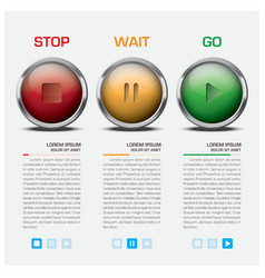Traffic light sign infographic vector