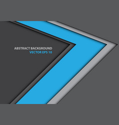 abstract blue arrow direction on gray design vector image vector image