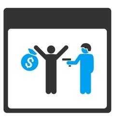 Arrest calendar page toolbar icon vector