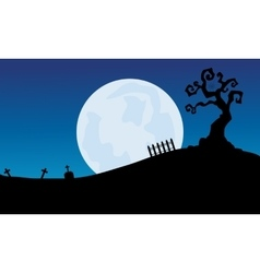 At night full moon scenery halloween backgrounds vector