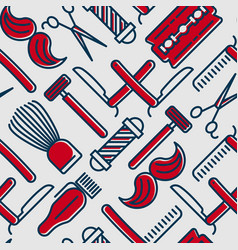 barber shop seamless pattern vector image vector image