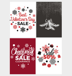 best valentines day sale vector image