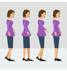 business woman walks four steps vector image