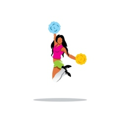 Cheerleading sign vector image