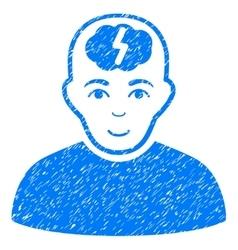 Clever Boy Grainy Texture Icon vector image vector image
