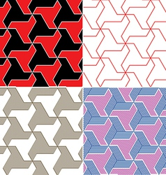 Color Seamless Patterns vector image vector image