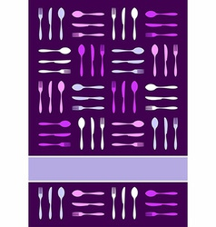 Cutlery invitation background vector