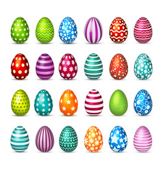 Easter eggs set spring holidays in april gift vector