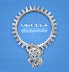 Engineering gear idea on paper vector