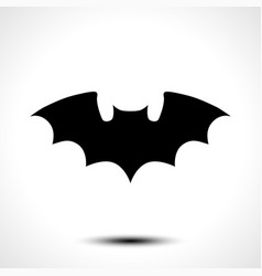 flying bat silhouette vector image vector image
