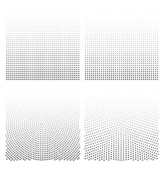 Halftone backgrounds set halftone dots vector