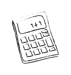 Isolated calculator draw vector