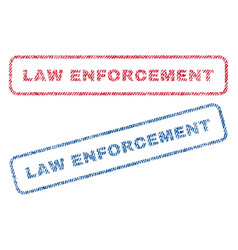 Law enforcement textile stamps vector
