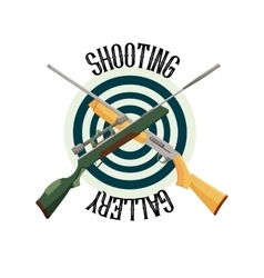 logo shooting club vector image vector image
