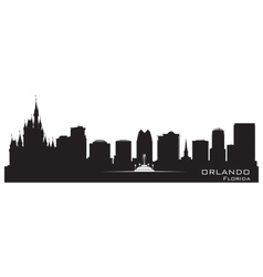 Orlando Florida skyline Detailed city silhouette vector image vector image