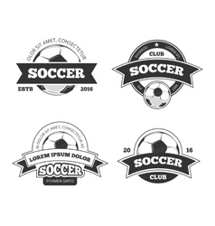 Soccer labels set vector