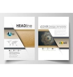 Templates for brochure magazine flyer booklet vector