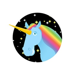 Unicorn fabulous beast with horn magic animal with vector