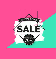 Universal sale background design for banner vector
