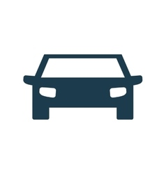 Auto blue car transportation icon graphic vector