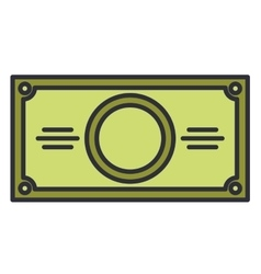 Bill money dollar isolated icon vector