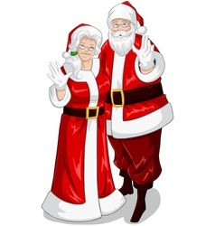Santa and mrs claus vector