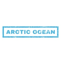 Arctic ocean rubber stamp vector