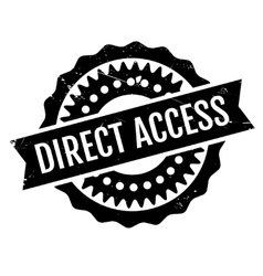 Direct access rubber stamp vector