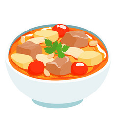 massaman thai curry with beef vector image