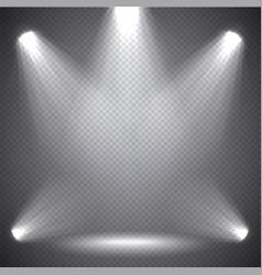 scene illumination bright light transparent vector image